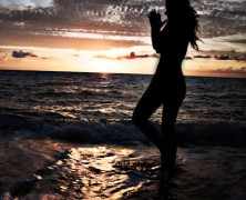 The energy of the sunrise, the beach, and Love